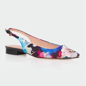 Talbots EDISON Floral Watercolor Slingback Flat 6